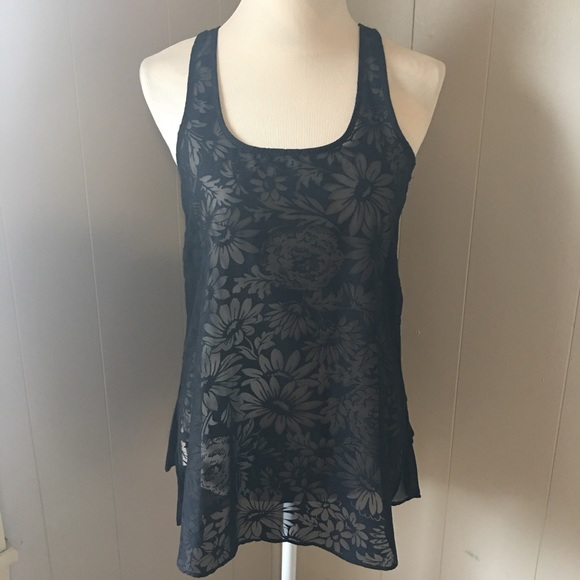 e2c8f29f Zara Tops | Collection Black See Through Thank Top | Poshmark